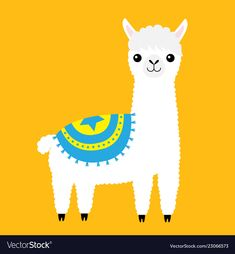 Alpaca llama animal cute cartoon funny kawaii vector image on VectorStock Alpaca Cartoon, Cartoon Llama, Cute Animal Drawings Kawaii, Cute Cartoon Drawings, Alpaca Drawing, Llama Images, Cute Alpaca, Llama Alpaca, Cute Ducklings