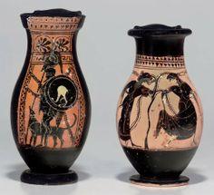 TWO ATTIC BLACK-FIGURED OLPAI -  CIRCA EARLY 5TH CENTURY B.C.