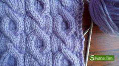Silvana Tim - Tejido con dos Agujas, Crochet, Recetas de Cocina: PUNTO TRENZAS (ochos). Tejido con dos agujas #42