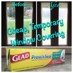 CIY Temporary Window Covering! Need more privacy, but want the natural light? | Making This House My Home