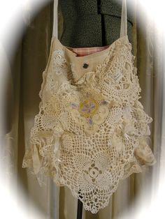 Shabby n Chic Bag  handmade cottage victorian by TatteredDelicates, $87.00