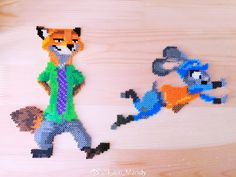 Nick and Judy - Zootopia perler beads