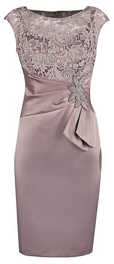 Bodycon Bateau Cap Sleeves Elastic Satin Mother Of The Bride Dress with Lace Beading