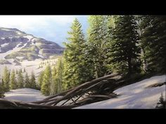 How to paint PINE TREES! - YouTube