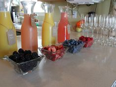 Mimosa bar at our gender reveal. Cheers!
