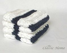 Nautical / Beach / Bath linens ~ Sailor Stripe Wash Cloth by The Classic Home in white/navy ~ Etsy Beach Bath, Bath Linens, Classic House, Washing Clothes, Sailor, Nautical, Navy, Trending Outfits, Unique Jewelry