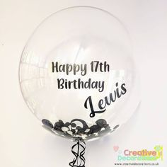 Happy 17th Birthday, 17th Birthday Gifts, Boy Birthday, Balloon Logo, Balloon Gift, Its A Girl Balloons, Bubble Balloons, Teen Party Games, Sleepover Party