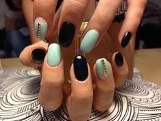 My nails !!:) mint and black! Just lovely...