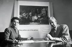 Leone Baxter and Clem Whitaker, founders of Political Campaign Inc, the first  political consulting company in 1933