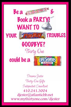 Thirty-One Smartie Card- DIY Printable by Simply Sprinkled. $12.00, via Etsy.