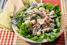 Fruity Chicken Salad with Tarragon Savory Herb, Savory Salads, Healthy Salads, Healthy Eating, Healthy Recipes, Healthy Food, Meat Salad, Chicken Salad, Soup And Salad