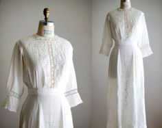 Lilly's dress, in my imagination, is a simple linen and lace gown like this -- something that suits the small country church where she and Robbie are married.