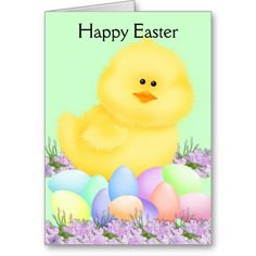 Happy Easter Chick Greeting Card ....... http://www.zazzle.com/happy_easter_chick-137331298582764221?rf=238631258595245556
