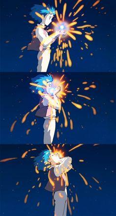 "Fuck Yeah Hayao Miyazaki - "" 'You who swallowed a falling star, O heartless man- your heart shall soon belong to me…' - Manga Anime, Film Anime, Manga Art, Anime Art, Hayao Miyazaki, Studio Ghibli Art, Studio Ghibli Movies, Totoro, Film Animation Japonais"