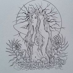 I am a bit behind with posting my ink sketches ...but here is another one from yesterday. Reference: kuoma-stock on Deviantart  who's that girl?  hope you enjoy!  #inktober #5 #drawings #sketchbook #ink #jannafairyart  #dryad #faery #fay