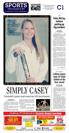 Upper Perkiomen senior Casey Umstead was selected as the field hockey Fall All Area Athlete of the Year for 2013. http://www.gametimepa.com/mont-bucks-archives-fieldhockey/ci_24798522/field-hockey-upper-perkiomens-umstead-is-mercury-all