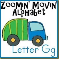 Free ABC printables - Gg is for Garbage Truck