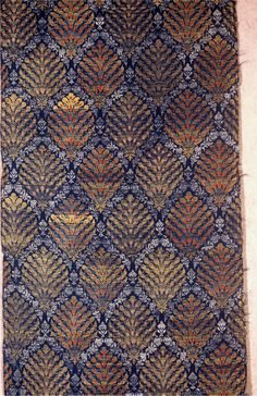 Safavid Persia, 17 c, brocaded silk and silver and gold metallic threads