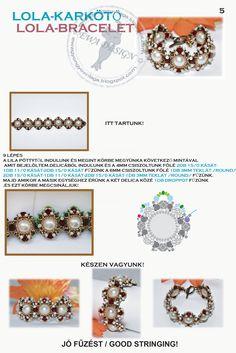 Lola bracelet - na stronie dużo schematów na wisiory