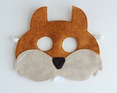 Squirrel Mask ADULT by oppositeoffar on Etsy, $18.00 Squirrel Mask, Squirrel Costume, Easy Diy Costumes, Toddler Costumes, Costume Ideas, Images Of Squirrels, Narnia Costumes, Visual Learning, 2nd Birthday