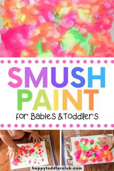 No Mess Smush Painting for Toddlers Does the idea of painting with your toddler sound terrifying? Then you'll love this beautiful no-mess smush painting project! Toddler Arts And Crafts, Toddler Art Projects, Baby Crafts, Projects For Kids, Easy Toddler Crafts 2 Year Olds, Diy Crafts With Kids, Toddler Painting Ideas, Crafts For Babies, Toddler Painting Activities