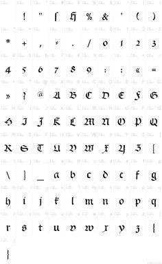 Schwabach písmo