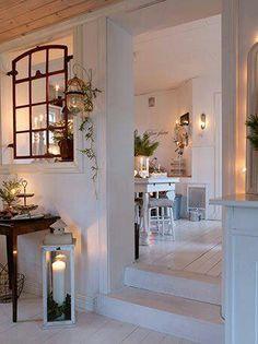 cool christmas decoration for white interior - living black & white - Star home Home Design, Diy Design, White Wash Wood Floors, Interior Design Living Room, Interior Decorating, Cosy Interior, Interior Windows, Interior Ideas, Home And Deco