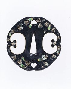 Sword Guard (Tsuba). Date: ca. 1615–1868. This sword guard (tsuba) features a design of gourds and leaves.
