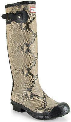 Hunter Rain Boots  ShopStyle:+Hunter+-+Carnaby+Snakeskin+-+Natural+Rubber+Rain+Boot
