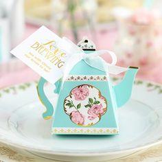teapot favor box wedding favors cheapbridal shower favorstea wedding favorstea party