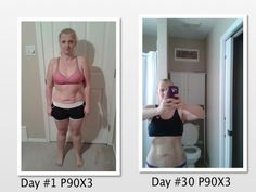 Results after 30 days of P90X3 :)