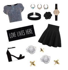 """""""love lives here"""" by arcadia21 ❤ liked on Polyvore featuring Coast, Nly Shoes, Barbour, Chanel, ASOS, Daum, Umbra, women's clothing, women's fashion and women"""
