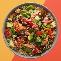 "Summer Quinoa Salad by Target Test Kitchen | ""Loaded with fresh veggies and dressed with an olive oil-lime juice vinaigrette, this easy, summery dish makes a perfect light meal or a side dish to your favorite grilled entrée."""