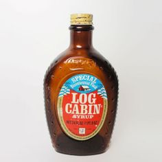 Log Cabin Flag And Log Cabin Pancake Syrup Bottle | Bottle, Vintage And The  Ou0027jays