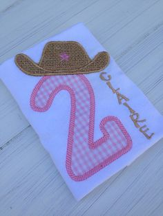 Cowgirl or Cowboy Applique Shirt  Any number by WollieBollieBaby, $22.50