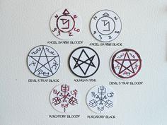 Supernatural Sigils Magnet Set by epsilonvita on Etsy