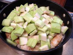 COOK WITH SUSAN: Hyotan Squash with Ginger Garlic Chicken