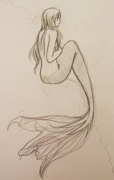 mermaid by ~Nseiki102 on deviantART - I love the fin on this one too :)