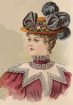 Young Ladies' Hat for October 1896