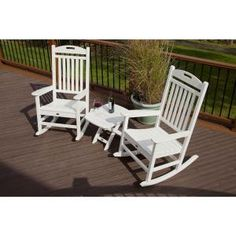 Trex Outdoor Furniture Yacht Club White Frame Bistro Patio Set Bistro at Lowe's. There's just something about a rocker that makes one want to slow down time and relax awhile longer. The Trex® Outdoor Furniture™ Yacht Club Patio Furniture Sets, Recycled Furniture, Outdoor Furniture, Antique Furniture, Rustic Furniture, Modern Furniture, Industrial Furniture, Coaster Furniture, Furniture Storage