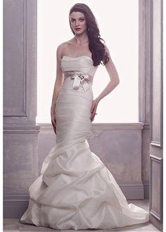 ALLURING SATIN MERMAID SWEETHEART NECKLINE NATURAL WAISTLINE WEDDING DRESS FORMAL PROM EVENING PARTY GOWN