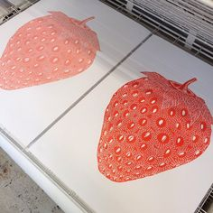 """New pink and red...Strawberry Lino #monikapetersen"