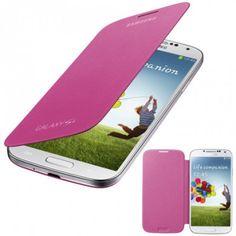 Funda Samsung Galaxy S4 Flip Cover Original - Rosa