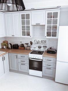Farmhouse Kitchen Decor, Home Decor Kitchen, Kitchen Interior, Kitchen Dining, Kitchen Cabinet Colors, Kitchen Sets, Kitchen Cabinets, Dining Room Inspiration, Apartment Interior Design