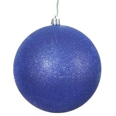 Gliter Christmas Ball Ornament with Cap