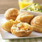 Bacon & Cheddar Filled Ebelskivers: These savory filled pancakes are a snap to p. - Bacon & Cheddar Filled Ebelskivers: These savory filled pancakes are a snap to prepare using our ebe - Brunch Recipes, Gourmet Recipes, Breakfast Recipes, Pancake Recipes, Breakfast Bites, Side Recipes, Breakfast Casserole, Tapas, Aebleskiver Recipe