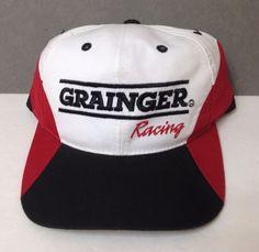 GRAINGER RACING SNAPBACK HAT White/red/black Nascar Industrial Supply Men/Women #CheckeredFlagSports #BaseballCap