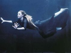 """""""I must be a mermaid… I have no fear of depths and a great fear of shallow living."""" ~ Anaïs Nin    Photograph of Kate Winslet by Annie Leibowitz"""