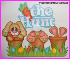 Easter, The Hunt created by PAPER PIECING MEMORIES BY BABS for scrapbook pages