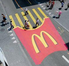 McDonalds advertising... Creative ! innovative communication trends